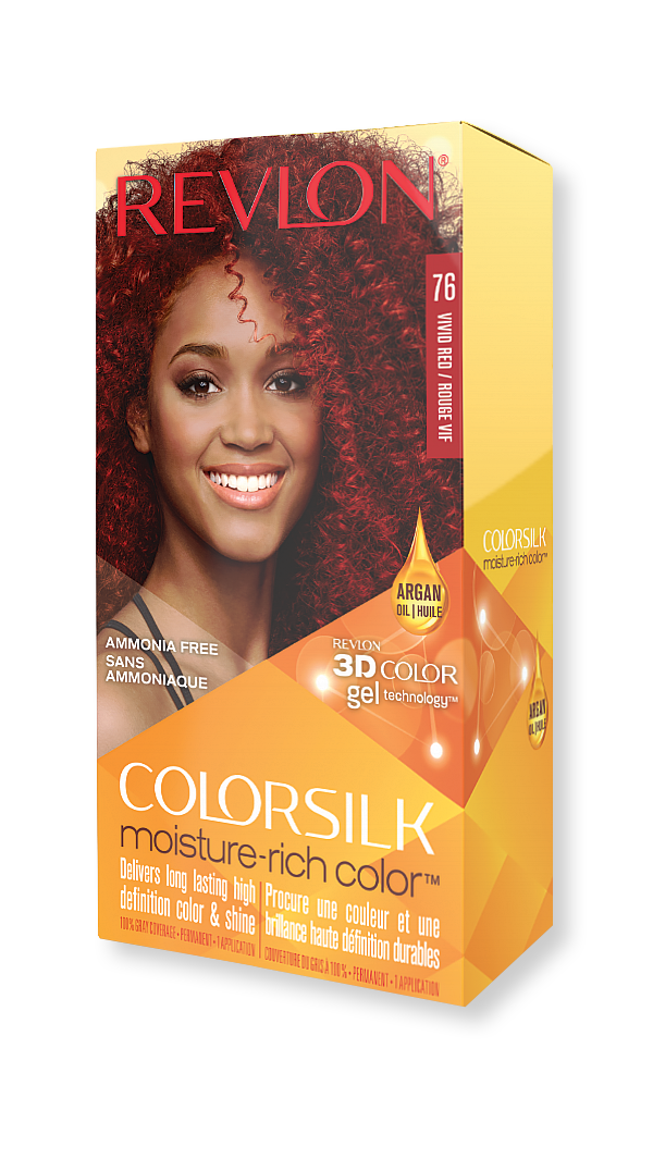 revlon hair colorsilk moisture rich hair color 76 vivid red
