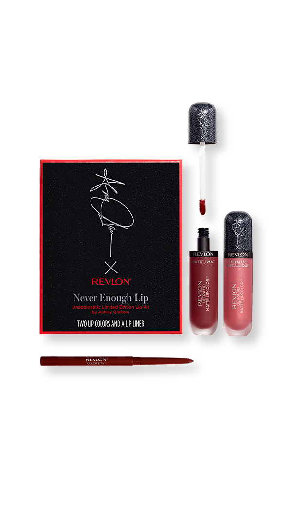 753642475d Revlon X Ashley Graham Never Enough Lip in Unapologetic - Revlon