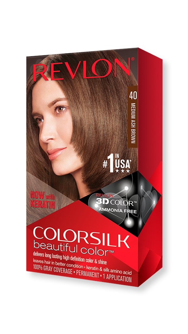 revlon hair colorsilk beautiful color hair color 40 medium ash brown