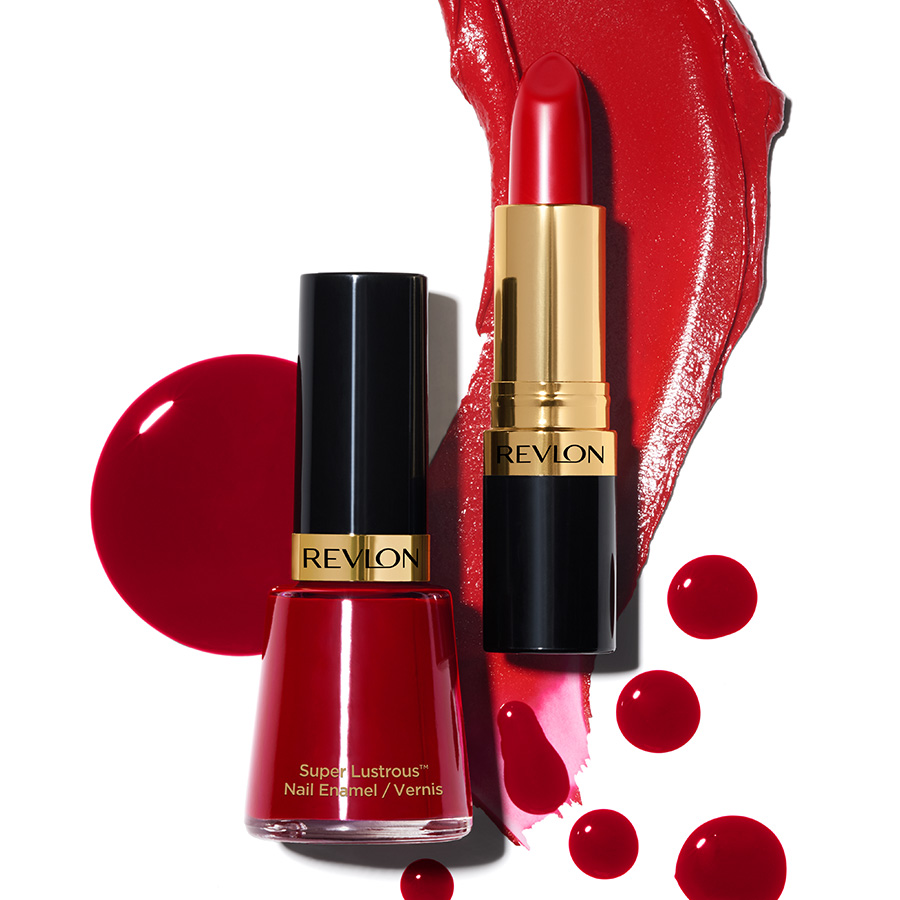 revlon nail super lustrous nail enamel certainly red valentine still life detail
